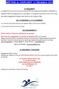 Règlement  Meeting du Confluent 13-12-14