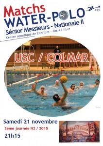 MAtchs 21 novembre USC COLMAR  N2