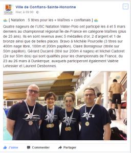 Les maîtres conflanais à l'honneur 03.2017