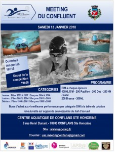 MEETING du CONFLUENT 13-01-18