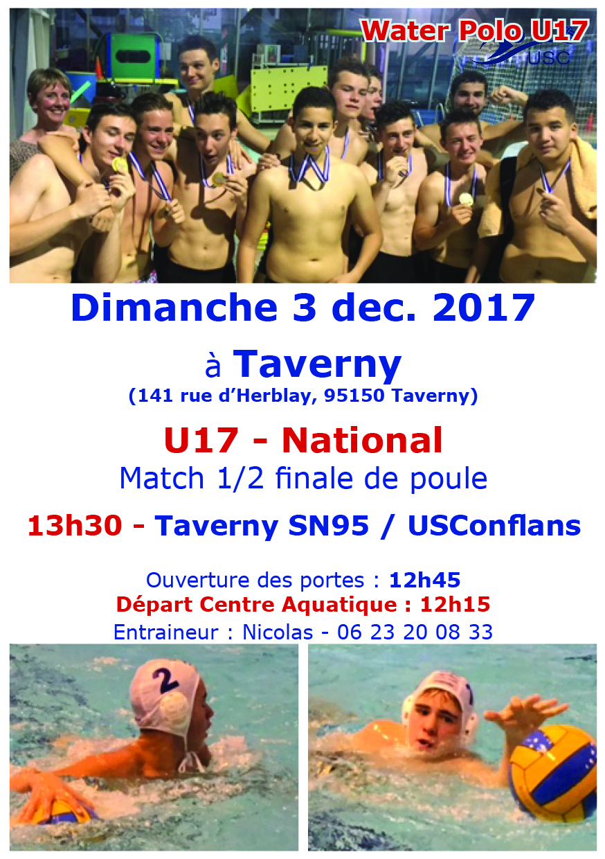 U17 National - 3 decembre - Taverny