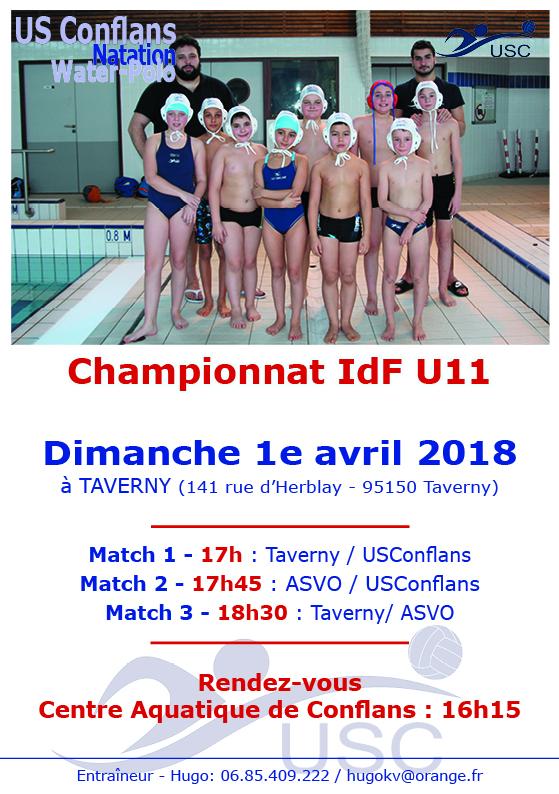 Championnat U11 - 1er avril - Taverny