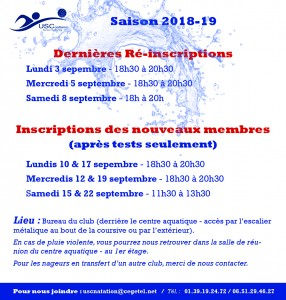 Inscription SEPTEMBE 2018-19 - Site B-2