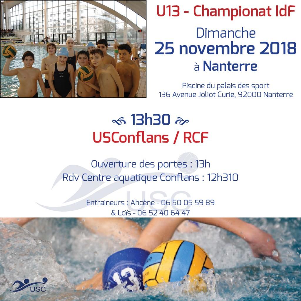 Convocations U13 - 25 novembre 2018 - USC-RCF