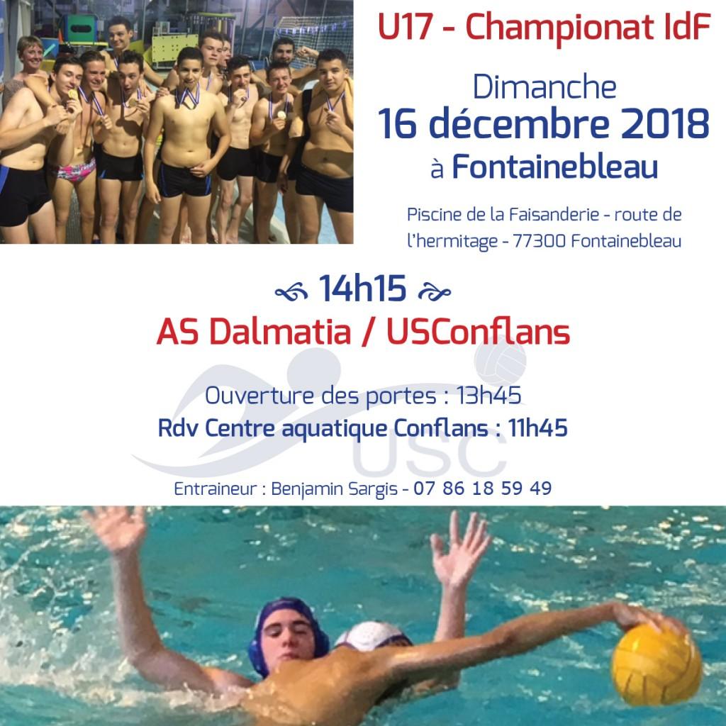 Convocations WEB U17 - 16 décembre 2018 - Dalmatia-USC