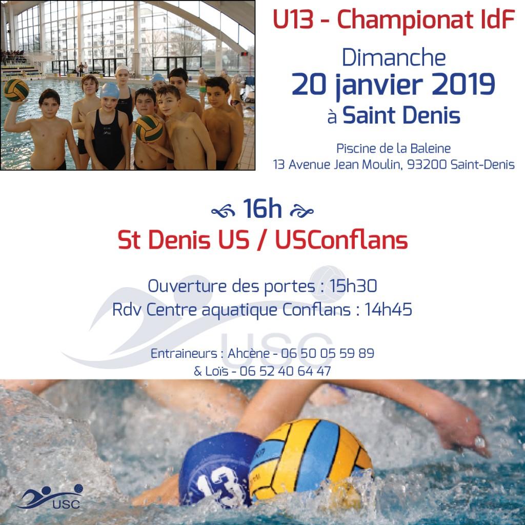 Convocations U13 - 20 janvier 2019 - SDUS-USC