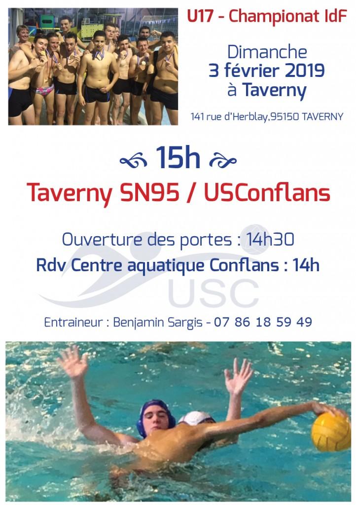 Convocations U17 - 3 février 2019 - Taverny-USC