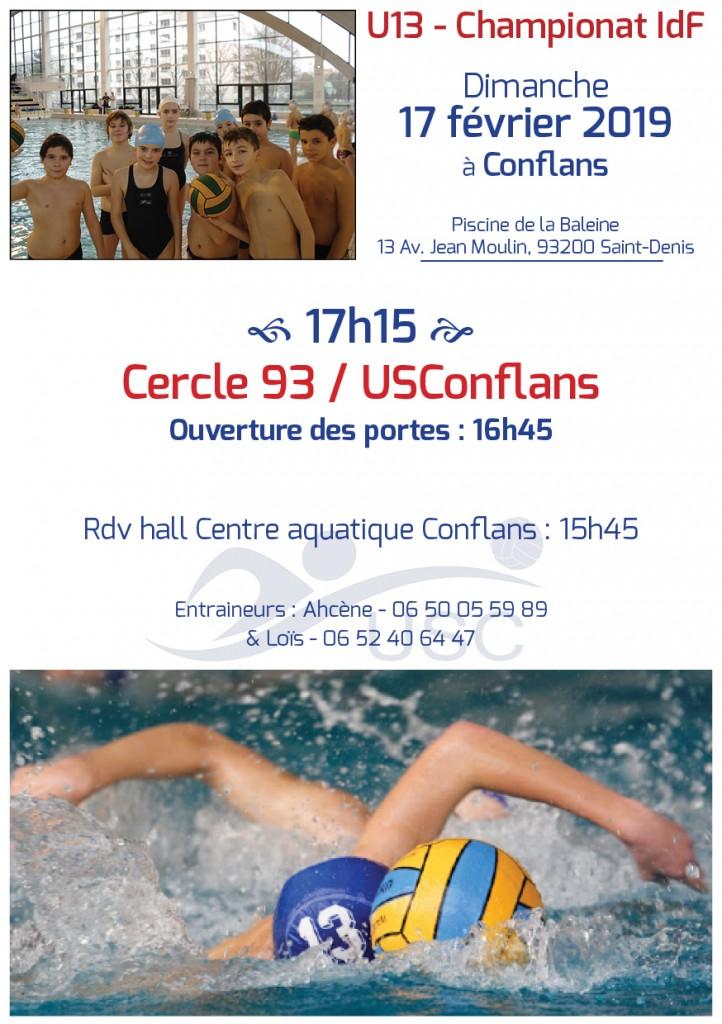 Convocations U13 - 17 février 2019 - Cercle 93