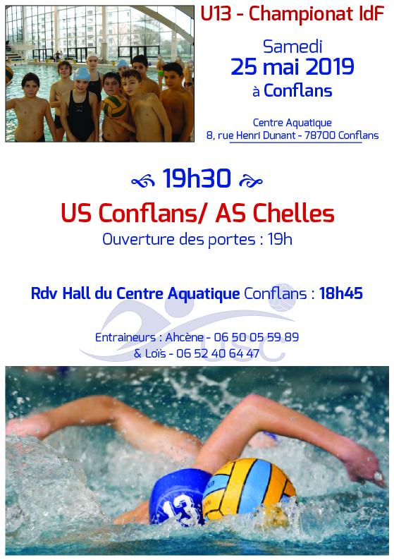 Convocations U13 - 25 mai 2019 - USC-Chelles - Finale