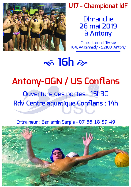 Convocations U17 - 26 mai 2019 - Antony-USC