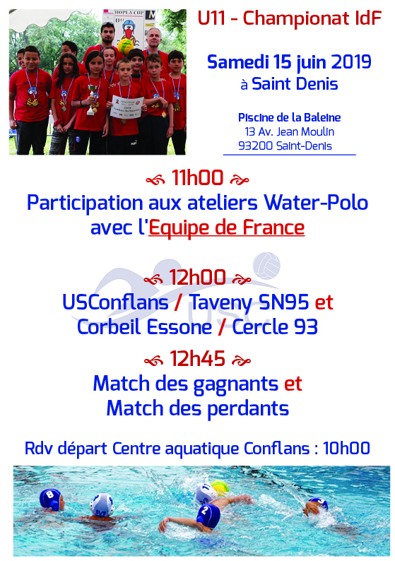 Convocations U11 -Finales - 24h de polo