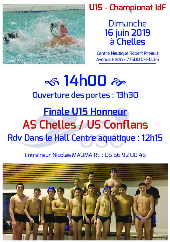 Convocations U15 - Grande Finale 16 juin 2019 - Chelles