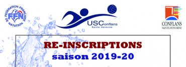 Ré-inscriptions et Tests – Saison 2019-2020